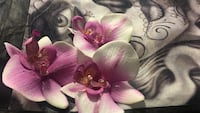 Beautiful White and pink orchid flowers hair clips Anaheim, 92801