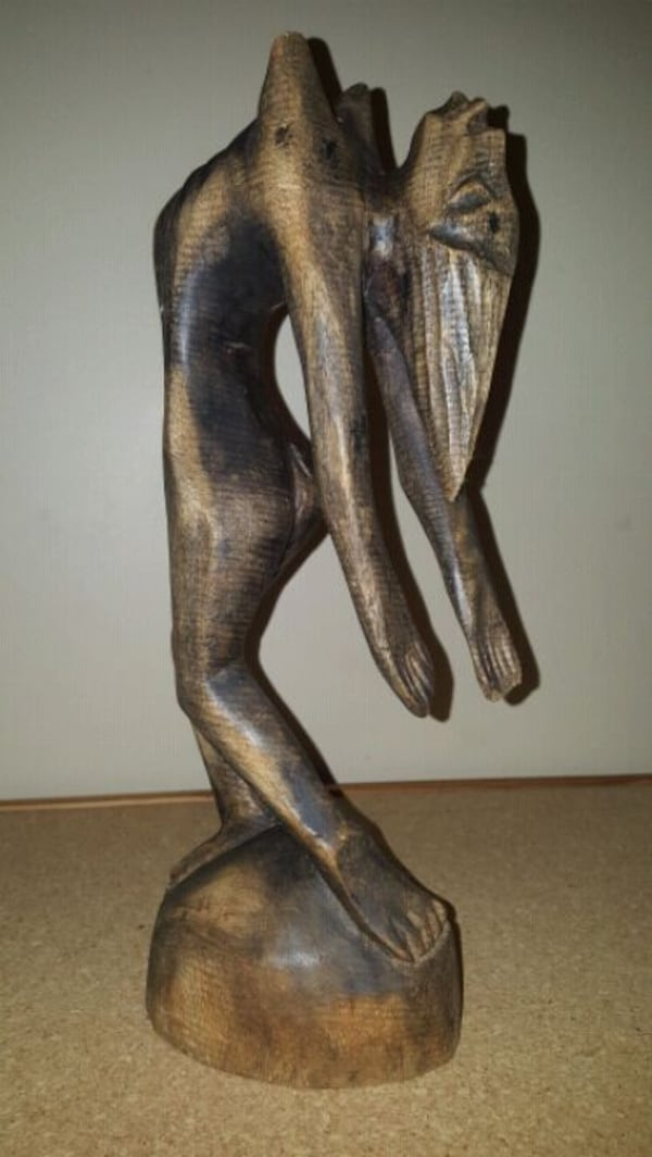 """Carved Wooden Statuette 15"""" tallPick up in Edm  37ea4111-952c-4bf7-b7b7-375bc69a6b62"""