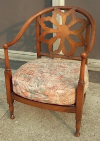 #21372 Vintage Mediterranean Barrel Chair Oakland