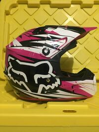 white, black, and pink motocross helmet Sherwood Park, T8A 3H9