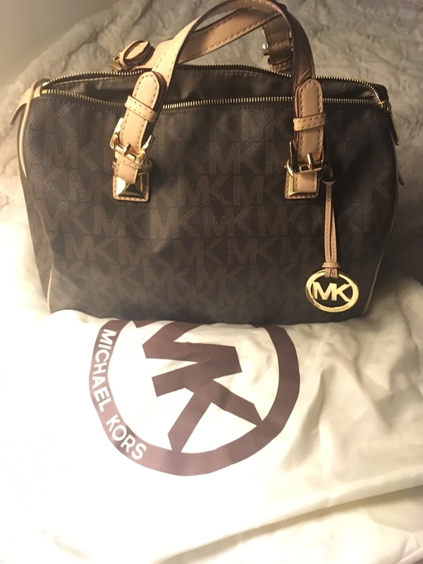Black And White Michael Kors Bowler Bag