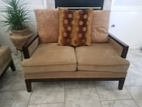 Loveseat and sofa good condition