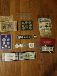 Collection of Foreign & Domestic Siver coins & rare bills
