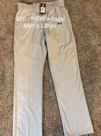 4 pairs - Men's Large Under Armour Baseball Pants - 3 new w/tags and 1 worn once Omaha, 68164
