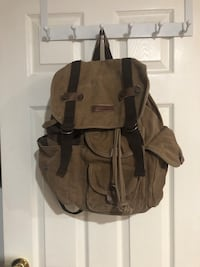 Brown Canvas Backpack Mississauga, L4Y 3C5