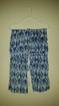white and blue pattern pants Edmonton, T5K