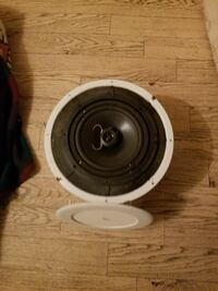 black and white subwoofer