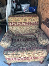 brown and green floral sofa chair Kennesaw, 30144