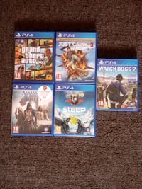 five assorted PS4 game cases West Midlands, WV2 1HS
