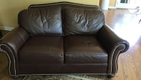 brown leather 2-seat sofa Hartsdale, 10530