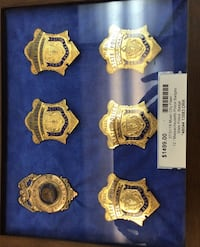 DECOMMISSIONED Mass. State Trooper badges