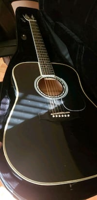 Acoustic guitar with amp
