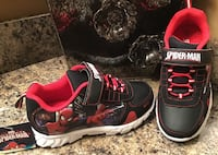 Spiderman toddler's/boy's black, red, & white runners - lights up, brand new with tag Calgary, T2J 1V5