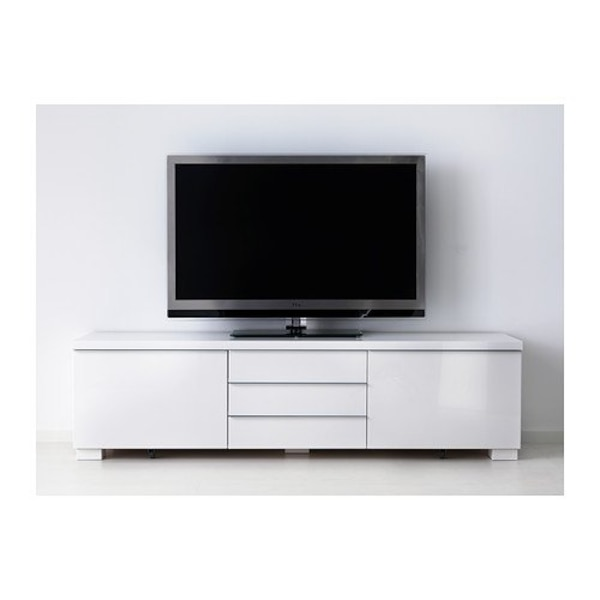 White High-Gloss 3section TV Stand