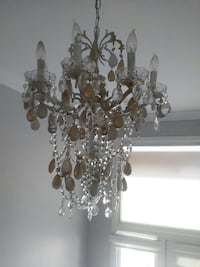 clear and brown glass chandelier Markham