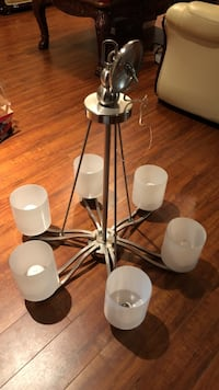 Stainless steel chandelier. Will take best offer. Surrey, V4N 3B5