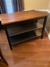 IKEA Butcher block bar table! Sharp!Includes stools and cushions!