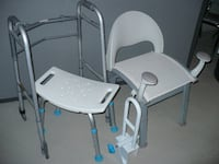 two shower chairs, walker and hand rail for tub  Vaughan, ON, Canada