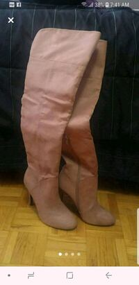 women's pair of champagne knee high boots Toronto