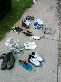 six pairs of assorted shoes 1446 mi