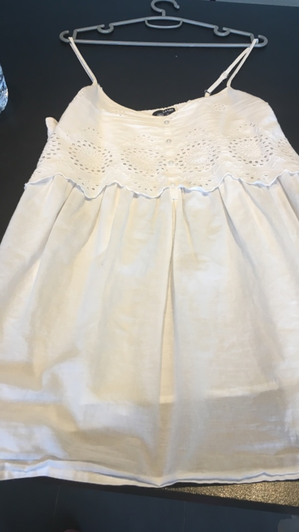 Robe blanche sans manches fille