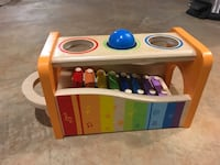 Hape wood xylophone with ball color sorting