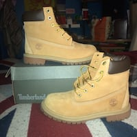 Timberland 6 Inch 4 kid 5.5 women Premium  Boots Wheat Nubuck Germantown, 20874
