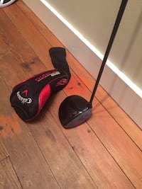 black and gray Callaway golf driver with case