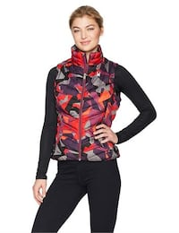 NEW Spyder Women's Geared Synthetic Down Vest Red Camo XL Toronto