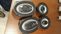 four black-and-gray coaxial speakers Guelph, N1K 1A9