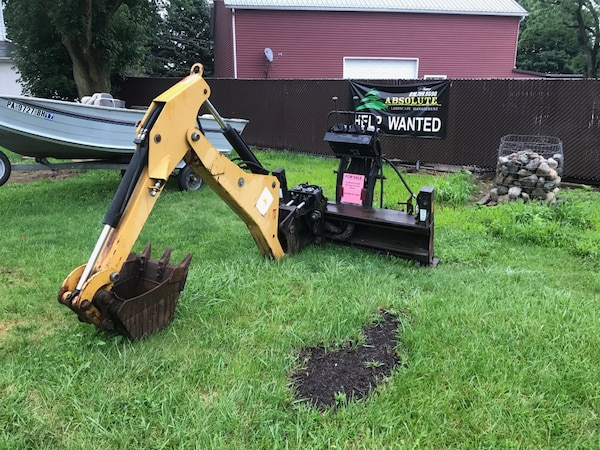 Cat BH30 Skid-steer Backhoe Attachment