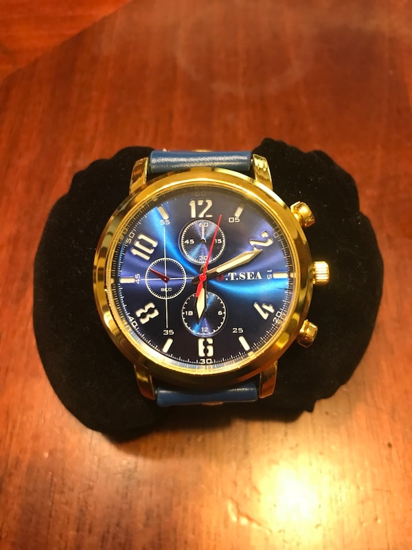 ceba3ee369ac Used Gold on blue dress watch leather for sale in Springfield - letgo