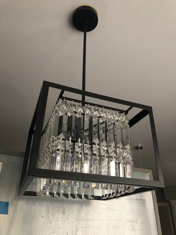 Square Crystal Chandelier  48356120-6327-4d87-9b5b-a205287f8acf