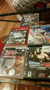 five assorted PS3 video game cases French Gulch, 96033