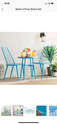 Blue Outdoor table and chairs Patio Set