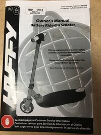 Huffy battery ride-on scooter box Findlay, 45840