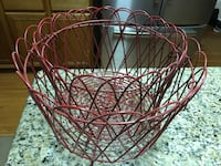 red steel baskets Sterling, 20166