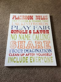 Playroom Rules canvas picture Stockton, 95219
