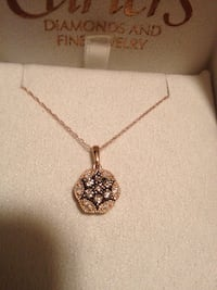 14k gold necklace & pendant with diamonds New Saugus, 01906