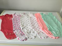 Carters 6 pack bodysuits for 6 months old baby girl  Brampton, L6R 0S3