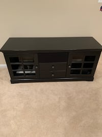 black wooden TV stand with cabinet Ashburn, 20147