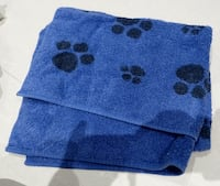 Large Blue dog paw Towel