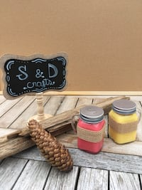 Stylish Salt&Pepper Soy Wax Candle Set, 100% Organic Homemade Vancouver, V5P 3A3