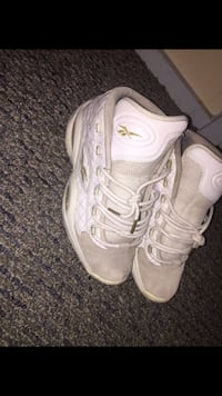 pair of white Nike Air Foamposite Pro shoes Providence, 02908