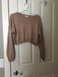Beige cropped sweater Calgary