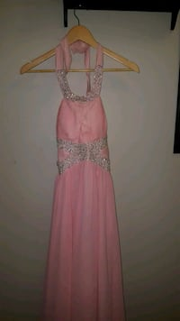 women's pink and silver halter gown/ dress Burnaby, V5A 4G4