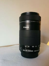 black Canon EF-S 55-250mm camera lens Toronto, M4C 4C2