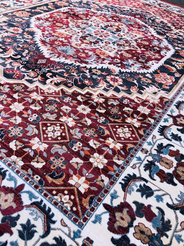NEW Silk rug Large size 8x10 Nice red carpet Persian Kashaan design f7c6ce03-e1d4-4c0e-a697-5744784bc414