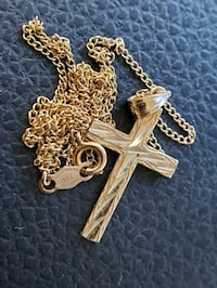 14K Necklace and Cross Pendant