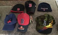 Boston Red Sox Hats Cap Lot 6 Diff 4 Hats 2 Skull Caps Winter Cooperstown + Camou Lyndeborough